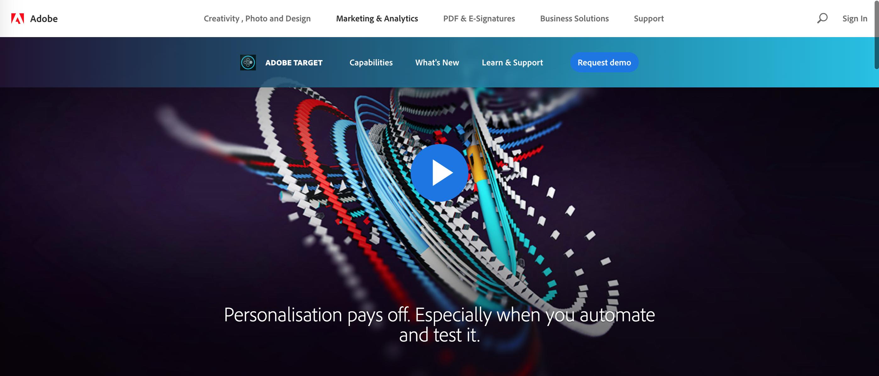 Logiciels de AB Testing - Adobe Target