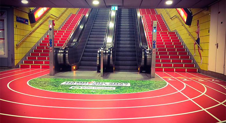 Nudge Marketing with an athletics track