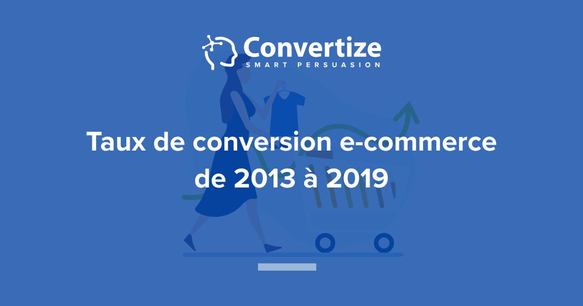 c3c71ef27ae Taux de conversion e-commerce de 2013 à 2019