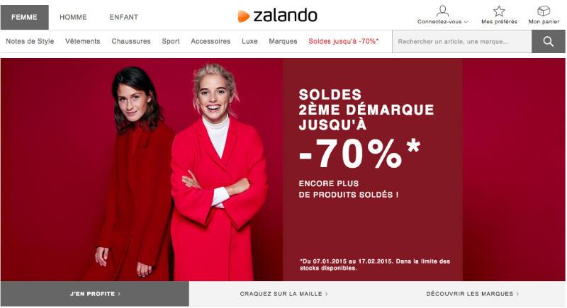 Zalando femme - carrousel d'images