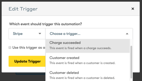 Marketing Automation - Integration Drip Stripe