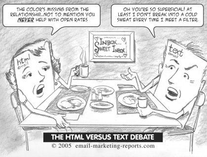 Newsletter HTML vs TEXTE
