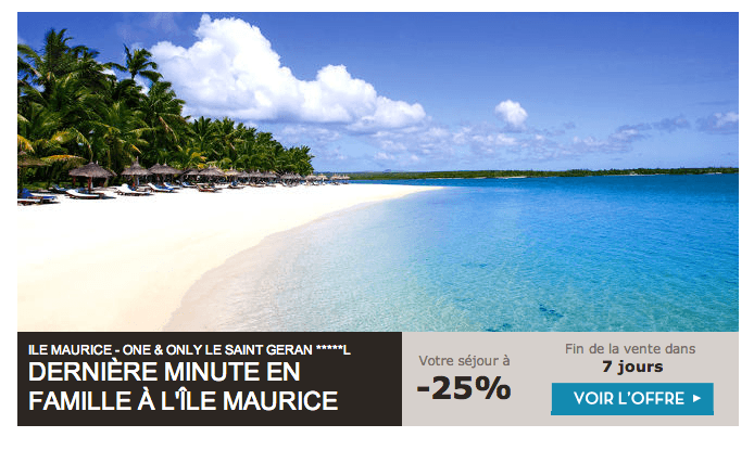 Newsletter VeryChic Voyage Offre 1