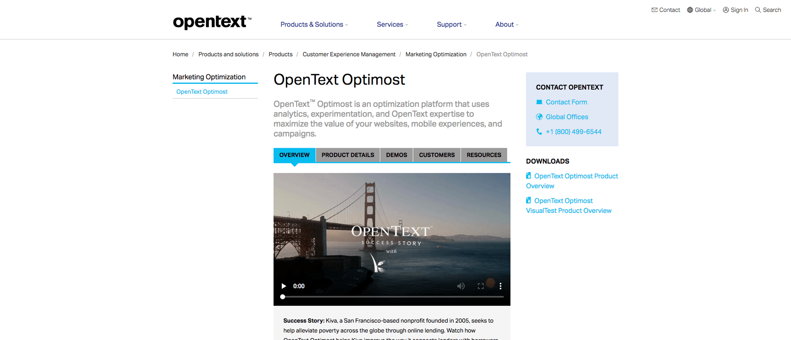 Logiciels de AB Testing - OpenText Optimost