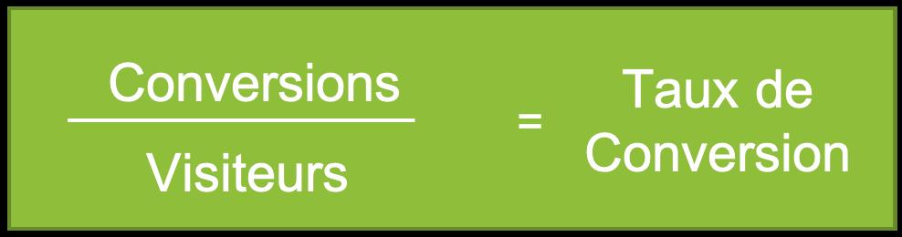 calcul du taux de conversion