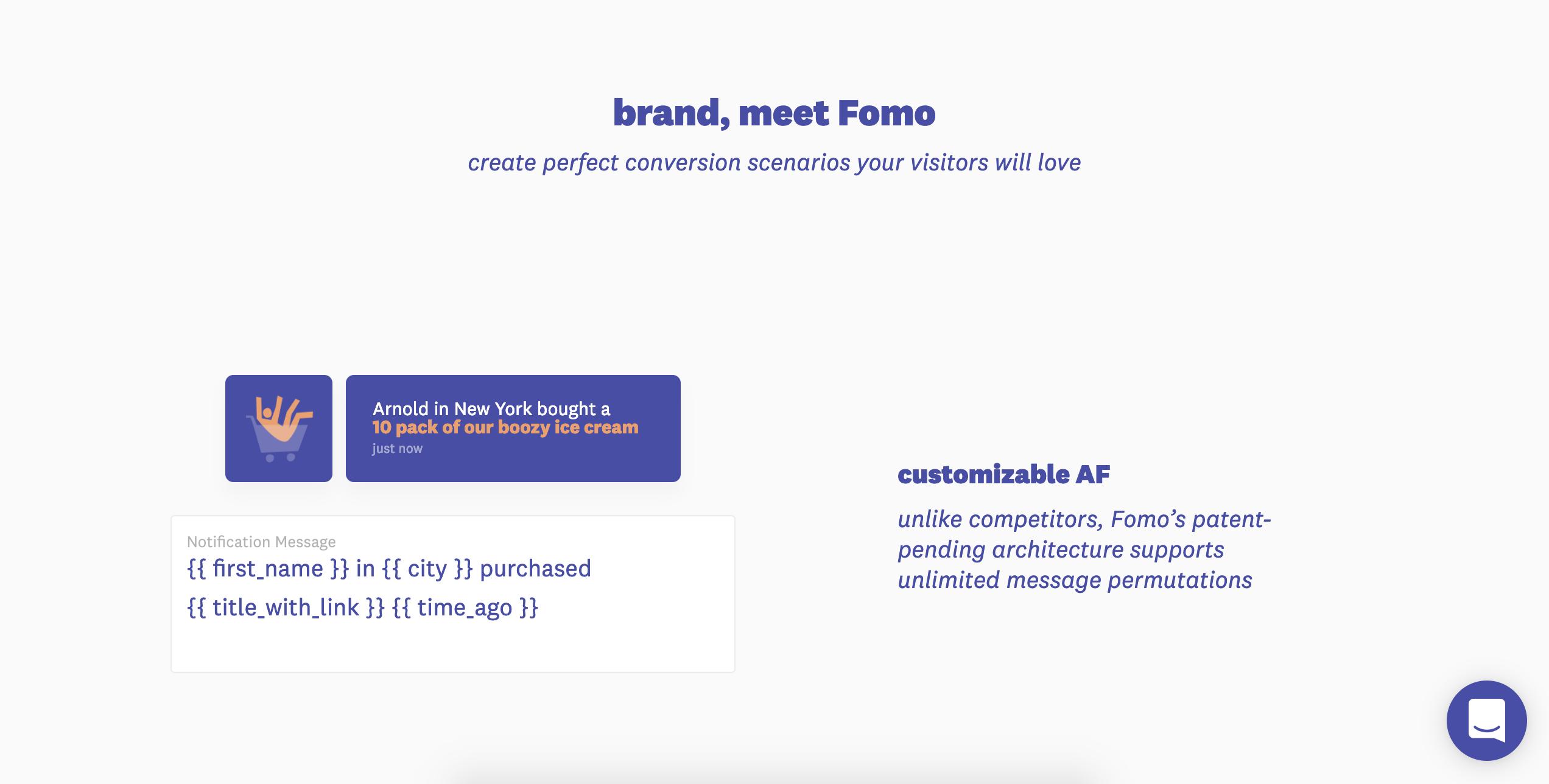 fomo une app de social proof sur shopify