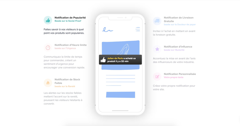 nudgify une app de social proof sur shopify