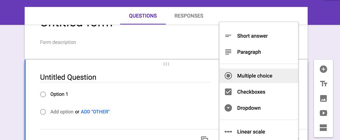 google forms - outil de feedback client