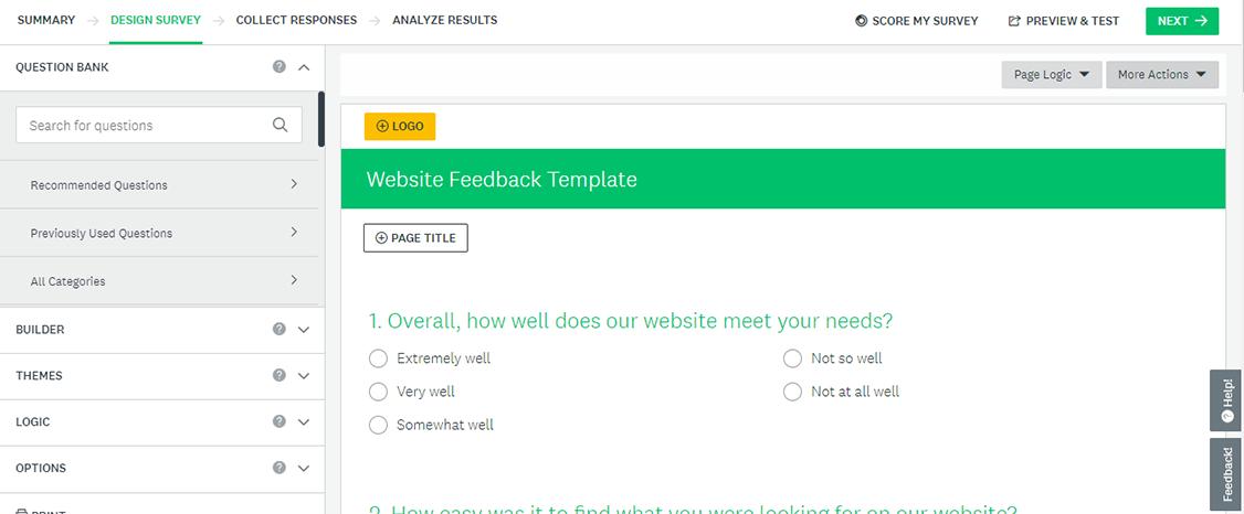 survey monkey - outil de feedback client