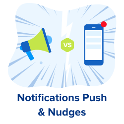 Notifications push et nudges