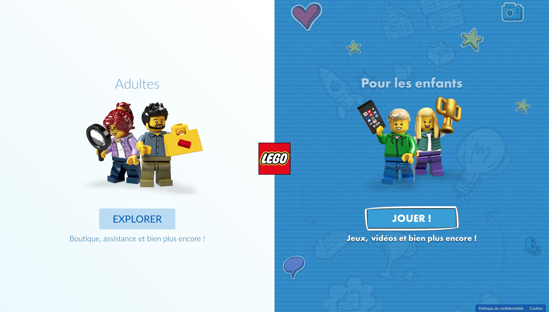 exemple de gamification du bouton call-to-action par lego