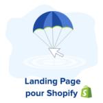 landing page pour votre boutique shopify