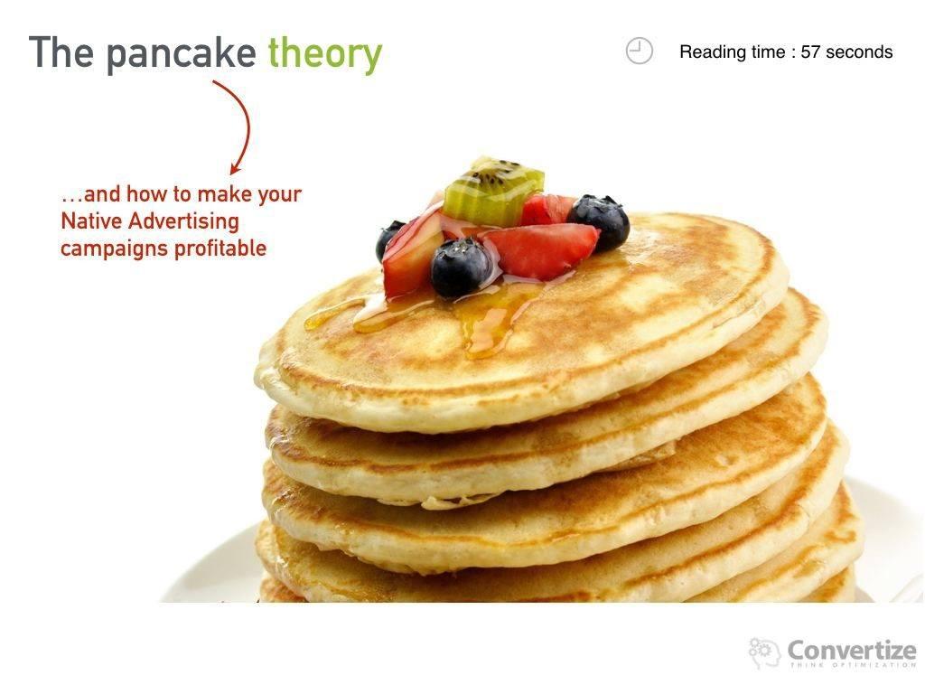 The Pancake Theory [Native Advertising]