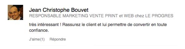 Jean Christophe Bouvet - Responsable Marketing chez Le Progrès