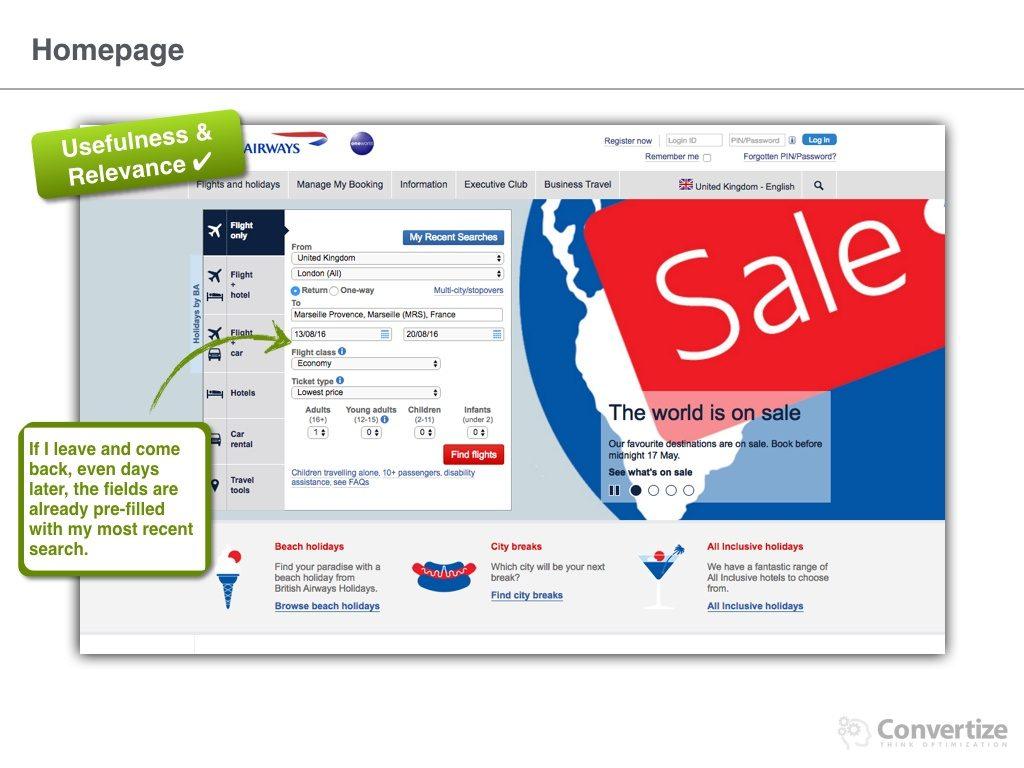british airways and management information systems