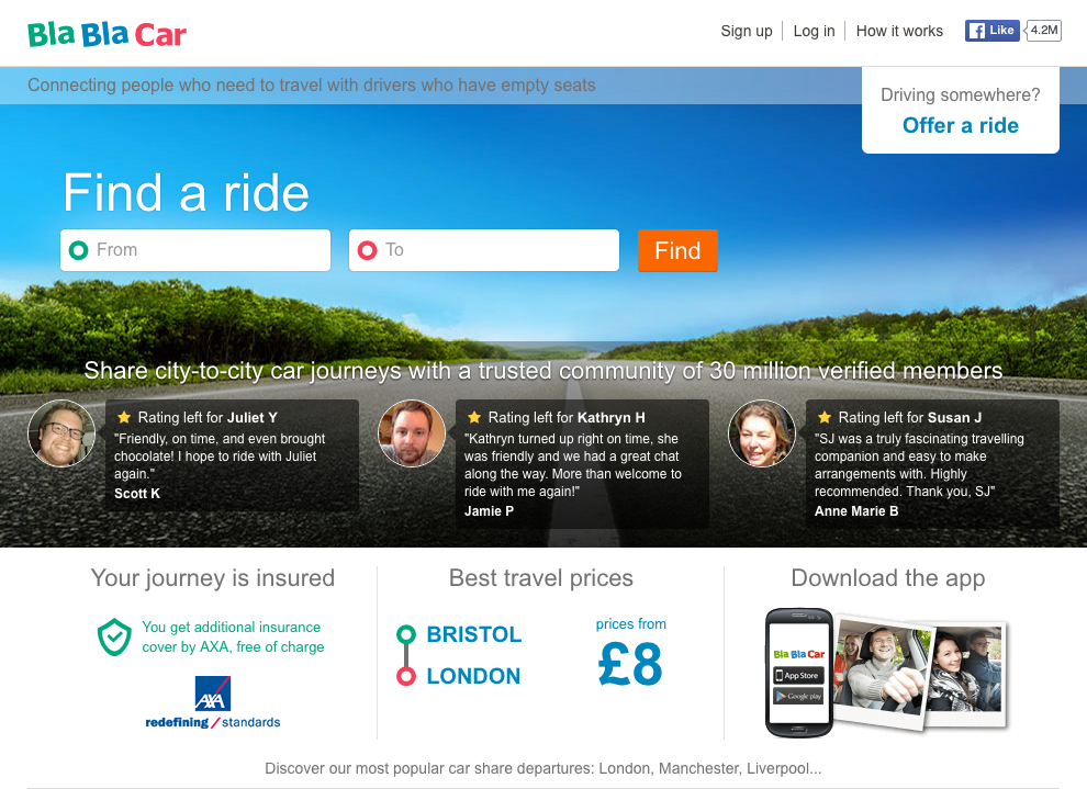 BlaBlaCar - How Do They Use Neuromarketing To Boost the Conversion Rate of Their HomePage?