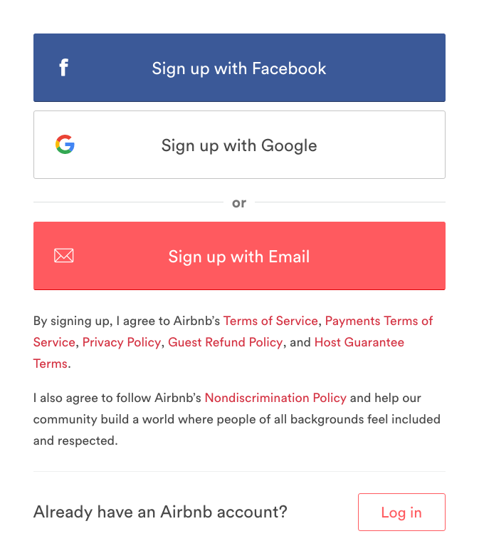 8 Neuromarketing Principles Used by Airbnb to Optimise their Sign-up Form