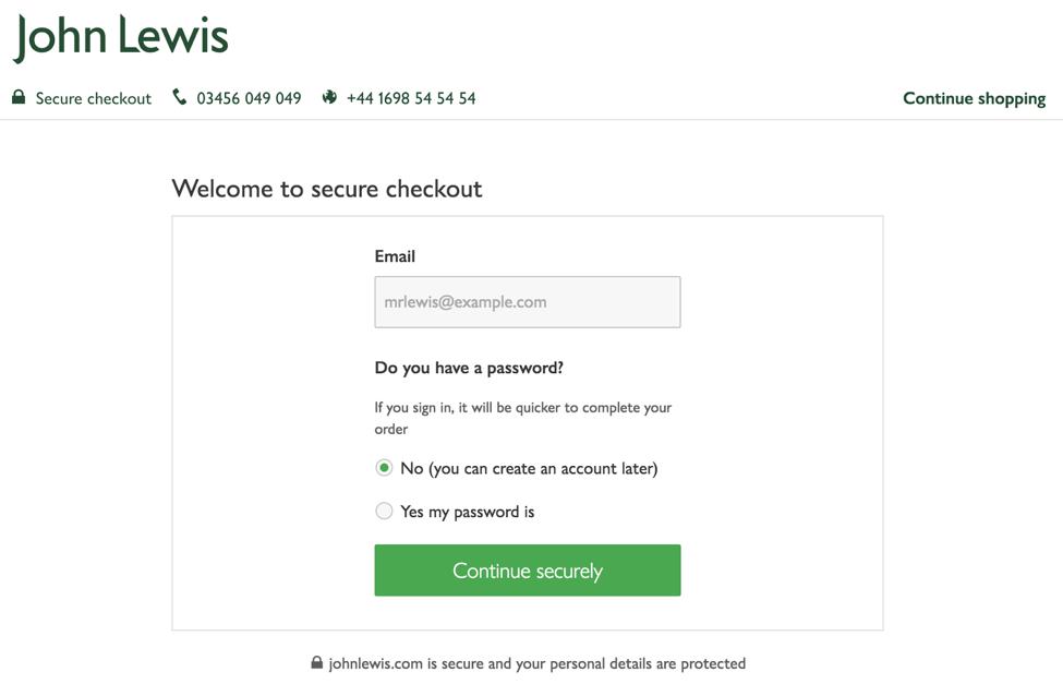 John Lewis –- the £1 billion online checkout