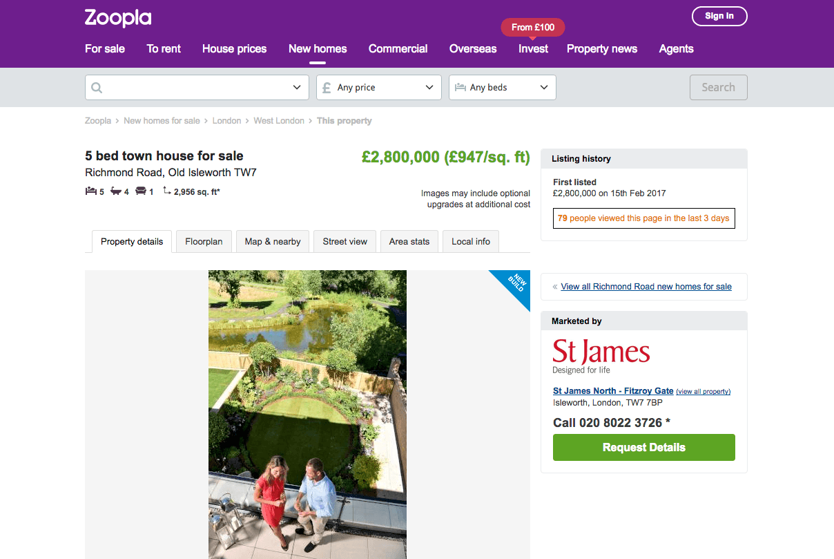 How Zoopla could get more sales requests