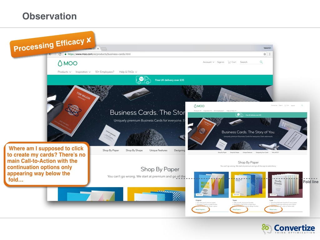 How could Moo optimise its conversions? | Convertize