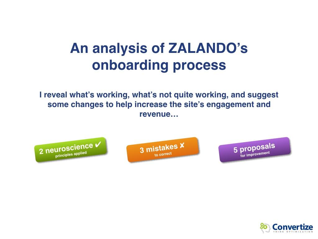 How could Zalando optimise its conversions?