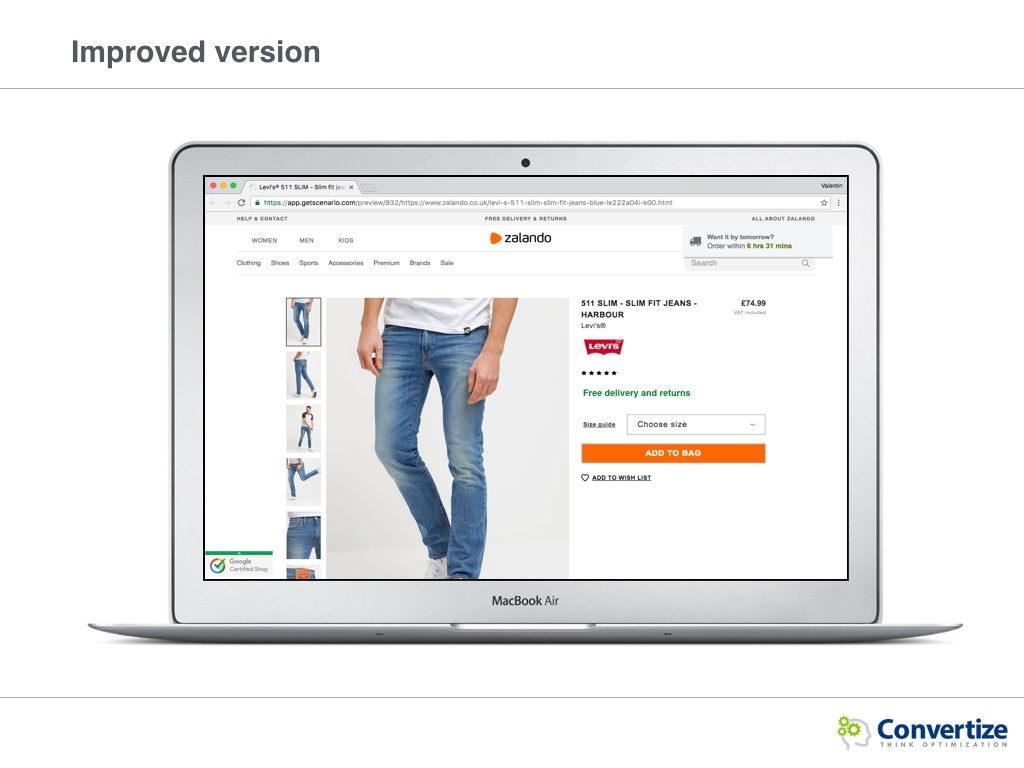 How could Zalando optimise its conversions?