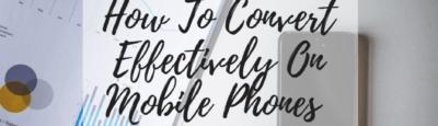Convert on mobiles