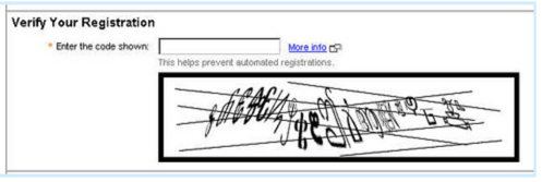 ineffective captchas in web forms