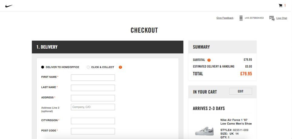 How to optimize your check out page example
