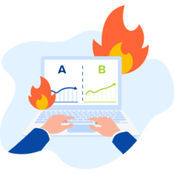 Flaming Laptop - A/B Testing Benefits and Risks