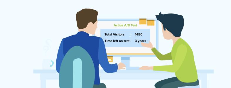 A/B Testing mistake - low traffic