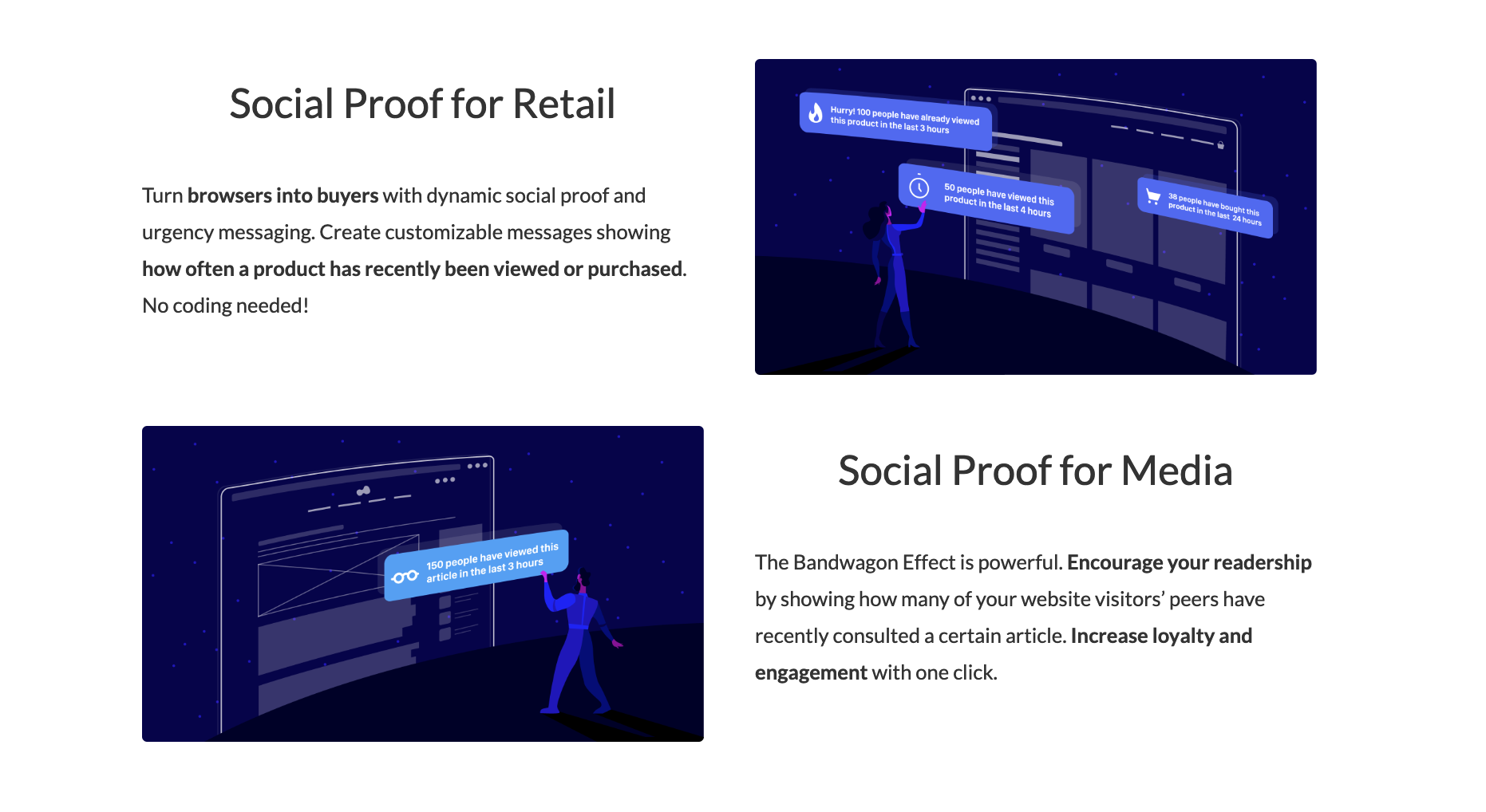 nudge engagement social proof app