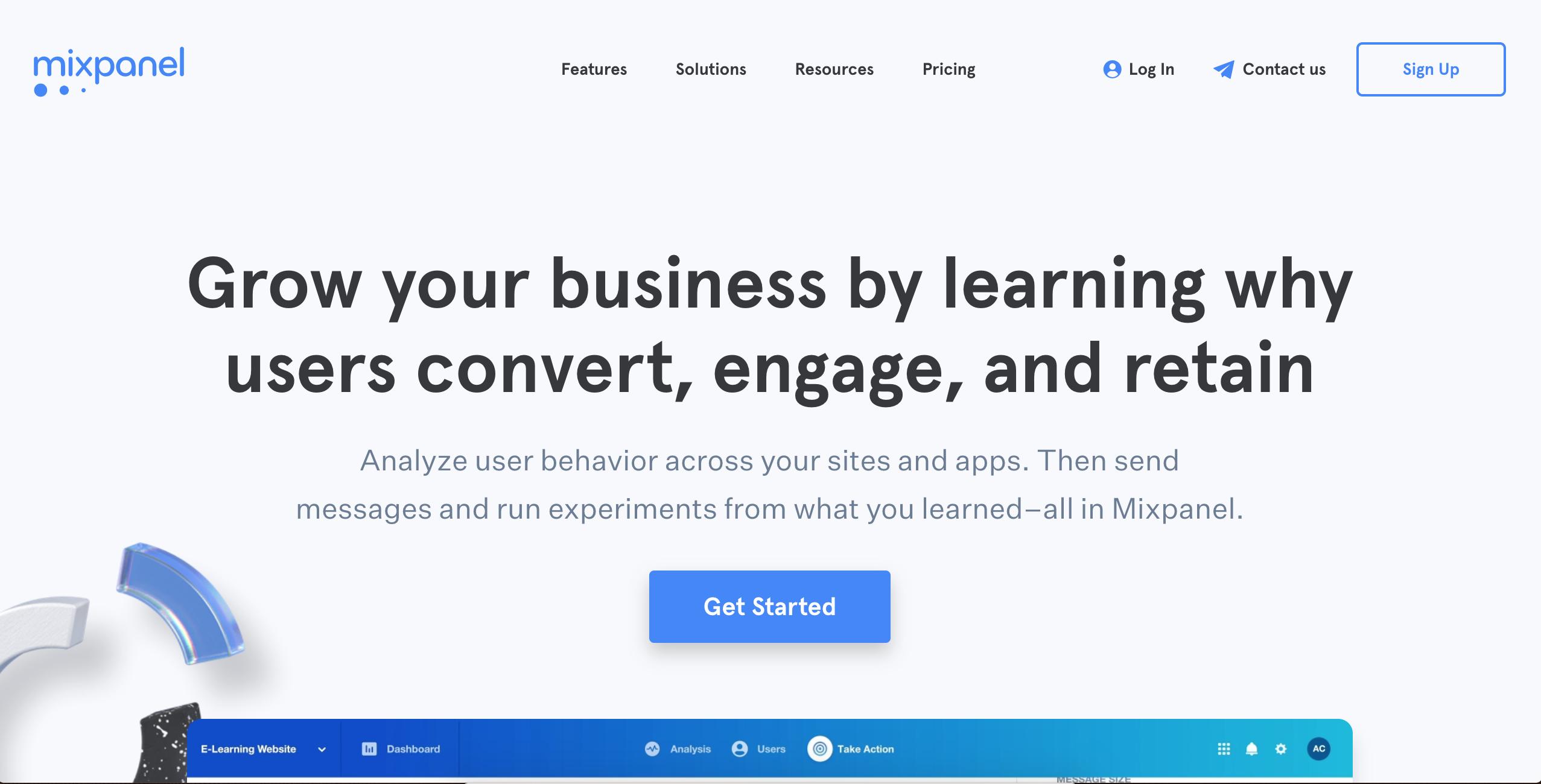 mixpanel analytics cro tool