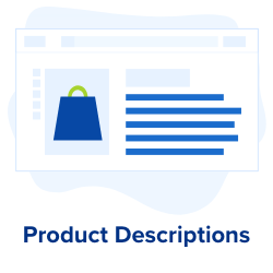 product descriptions