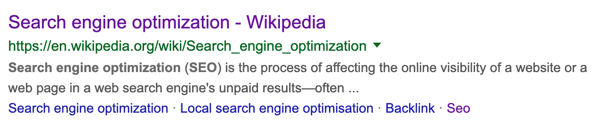 search engine optimiation