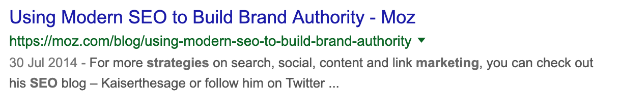 seo branding example