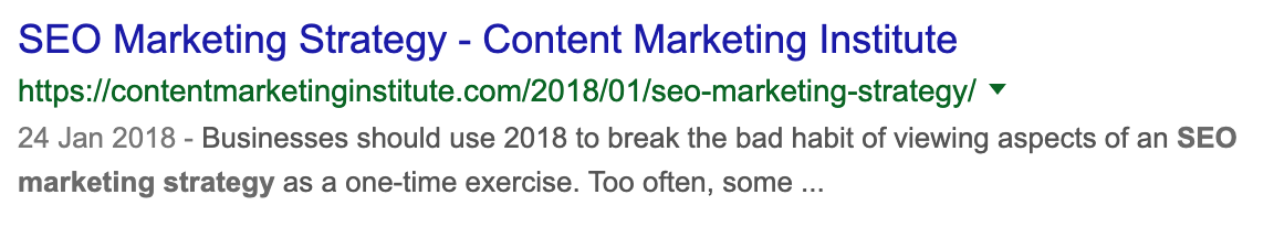 content marketing branding example