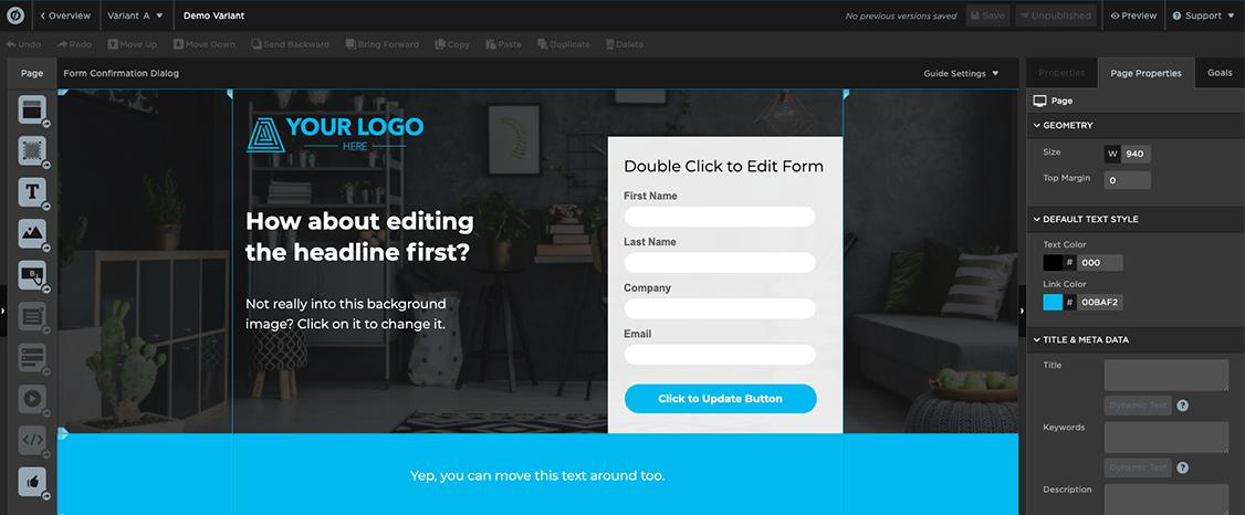landing page cro tool