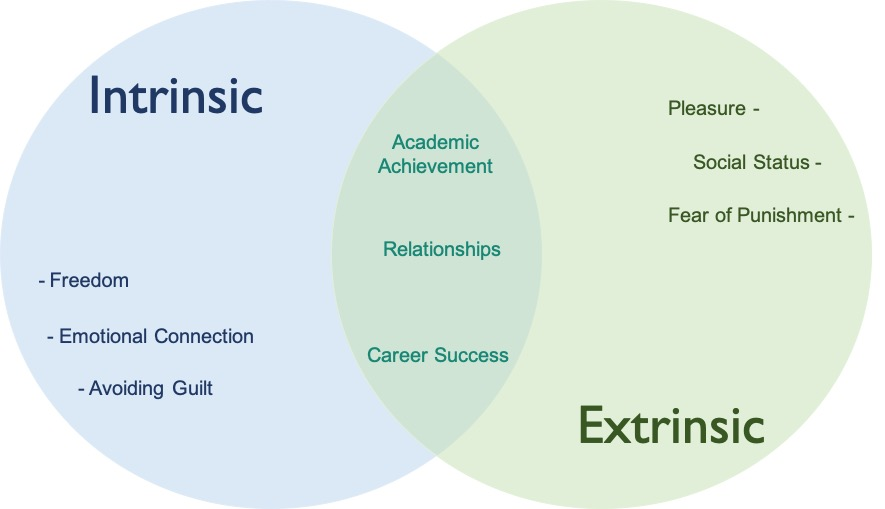 extrinsic and intrinsic motivation diagram