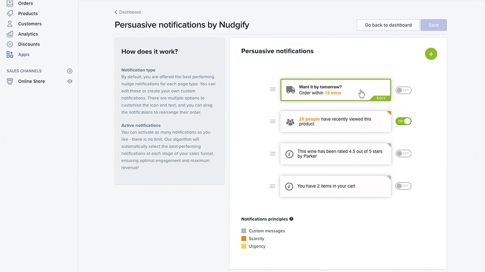 persuasive notification plugin