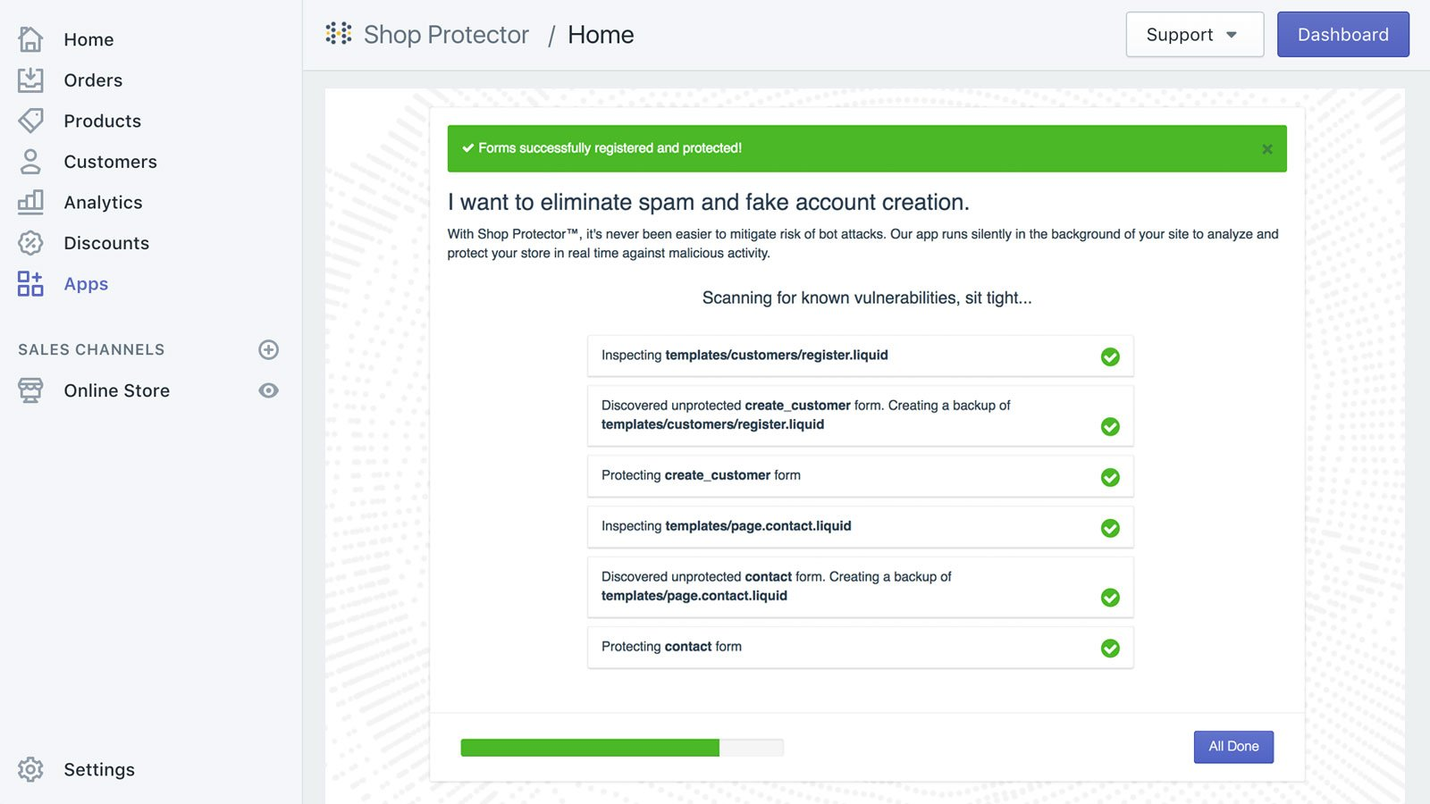 safety plugin shopify